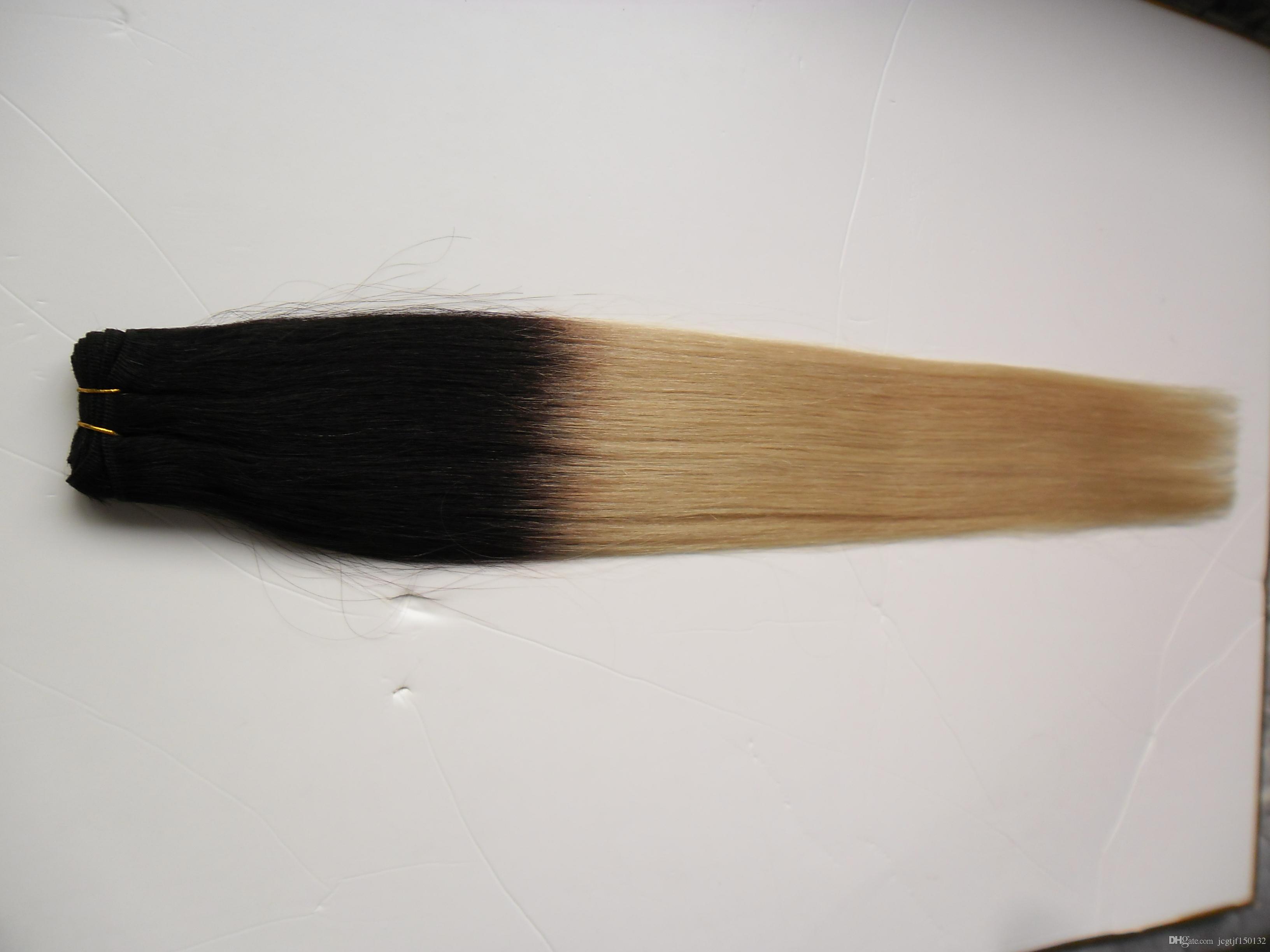 T1B / 613 ombre weave hair 금발 브라질 머리 엮어서 100g brazilian straight hair weave bundles