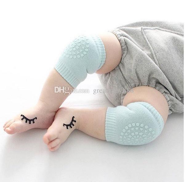 الركبة الطفل وسادات الزحف السلامة الكرتون القطن حامي الاطفال الرضفات الأطفال قصير نيباد الطفل تدفئة الساق C2365