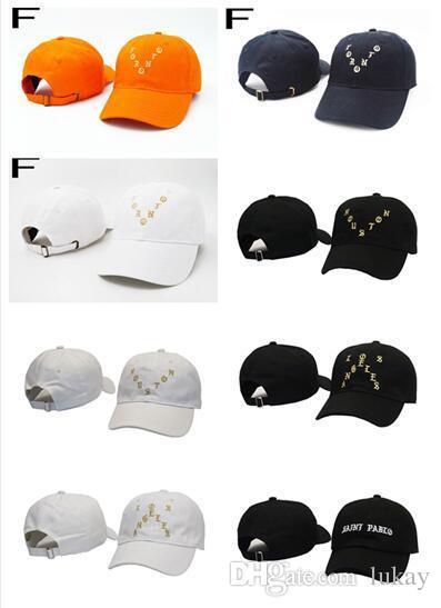 5945251c91f94 Cheap 2017 Saint Pablo Hot Collection City Series New York Houston Toronto  Los Angele San Francisco Hat Black I Feel Like Pablo Bear Visor