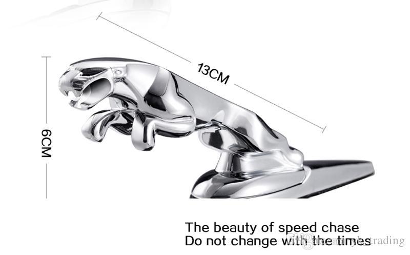 Pour Jaguar XF XFL XJ6 XK S F TYPE De Voiture Auto 3D Solide En Chrome Alliage De Métal Alésage Ou Autocollant Panthère Leopard Grill Avant Capot Emblème