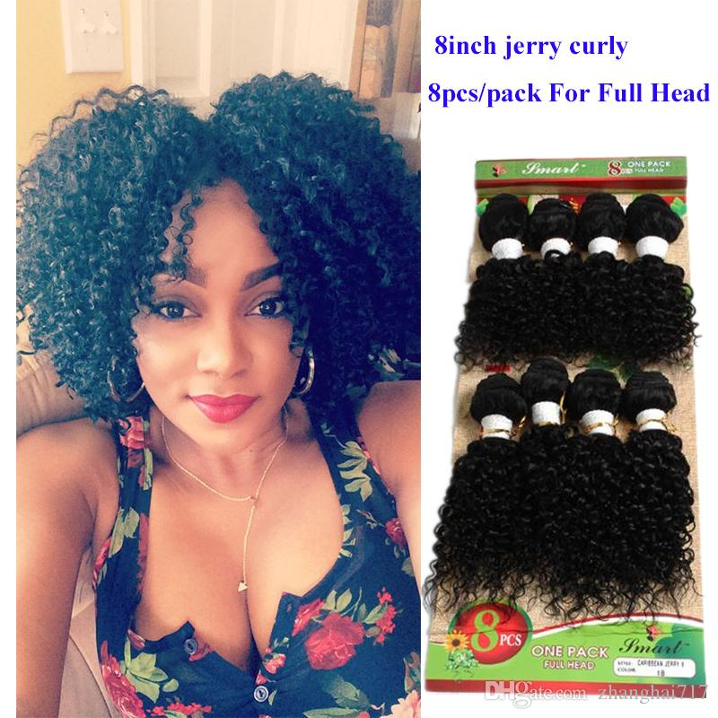 Unprocessed Afro Kinky Curly Hair Brazilian Hair Weave Short 8inch