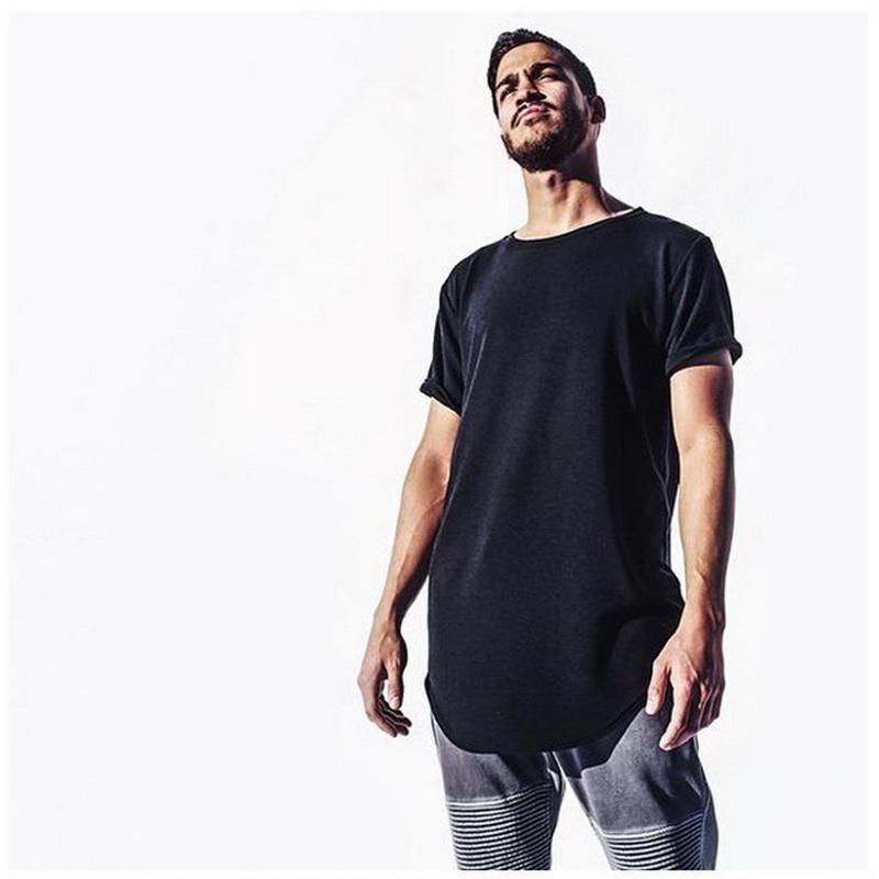Los hombres de moda extendida camiseta de algodón patinador hip hop camisetas justin bieber swag harajuku rock camiseta homme streetwear camiseta TX145 RF