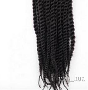 Tranças de crochê Trança de Cabelo Preto Encaracolado Moda Peruca Dreadlock Cabelo para Preto e Branco Mulheres Sintéticas de Cabelo 20-22 polegada