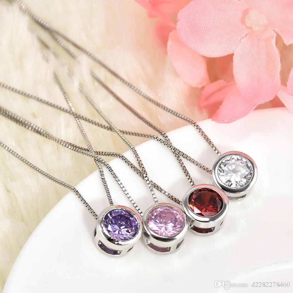 Korean Style Alloy Necklace of Women\'s Simple Inlaid Zircon Jewelry ...