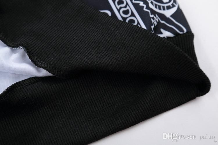 Atacado-Mens HipHop Camiseta Paisley Bandana manga comprida Graphic Tee Streetwear # 11