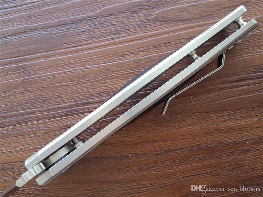 Sog FIELDER auto EDC Folding blade knife G707 8Cr14Mov Steel Cocobolo handle Plunge Loc rescue knife cutting tools