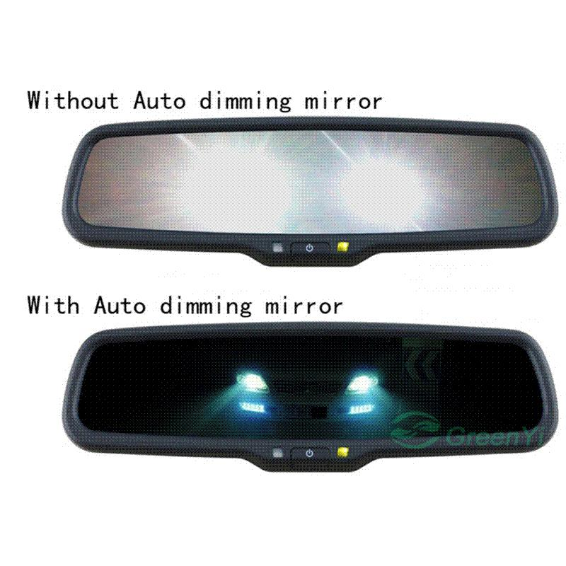 hd1080p 4 3 special car dvr camera with original bracket auto dimming mirror monitor led rear. Black Bedroom Furniture Sets. Home Design Ideas