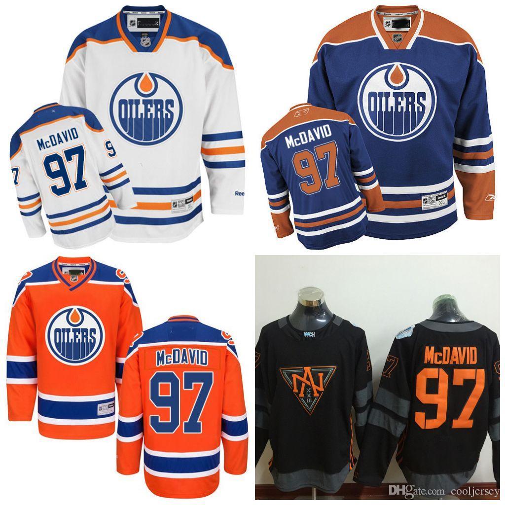 c153ed963 Acheter Maillots De Hockey Sur Glace 2016 De La Coupe Du Monde De  L Amérique Du Nord Pour Les Oilers D Edmonton 97 Connor McDavid Authentic  Royal Home ...