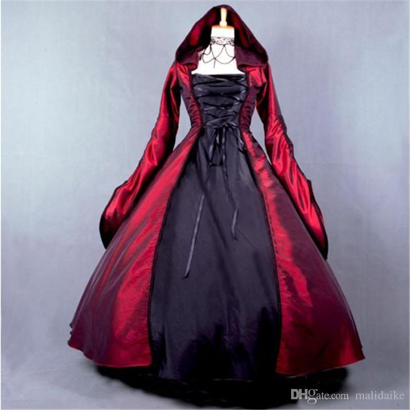 Malidaike Anime Wine Red Lolita Dress Skirt Halloween Vampire Style ...