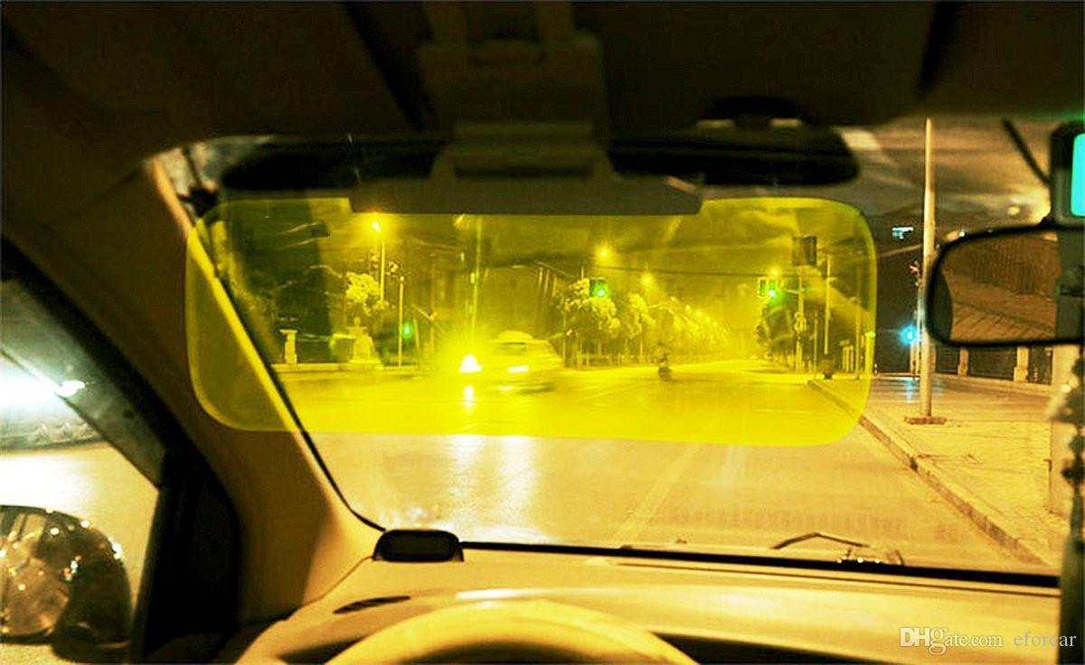 2 في 1 سيارة السيارات كتلة الشمس المضادة للأشعة فوق البنفسجية قناع ليلا ونهارا غير الوهج المضادة للانبهار ظلة سائق مرآة نظارات واقية درع