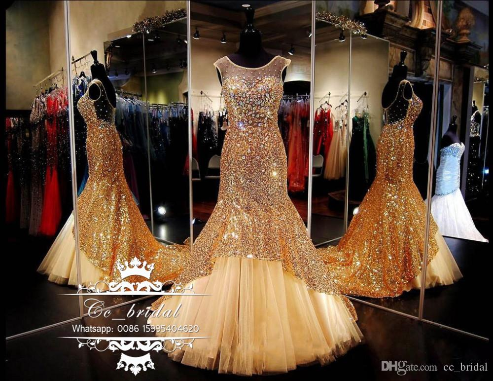 sheer scoop neck gold plus size prom dresses 2017 long