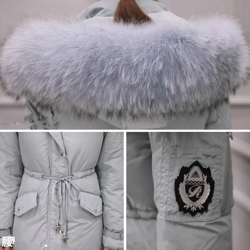 2017 Cheap Womens Long Down Jacket Winter Warm Female Thick Warm Parka Real Fur Hooded Over Coat Luxury Winter Clothing doudoune femme