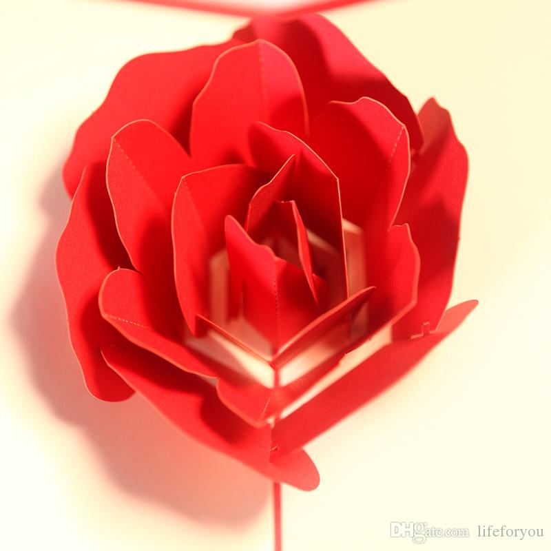 Grußkarten Hochzeitskarten knallen Karten Glückwunsch Hochzeitstag Rose Glückwunschkarte Valentinstagskarte mit Umschlag