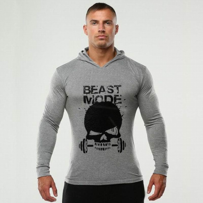uk availability fa63e 8871e Wholesale-Autumn Men Beast Mode Hoodies Fitness Bodybuilding Hoodies Gyms  Pullover Cotton Sweatshirts Plus Size