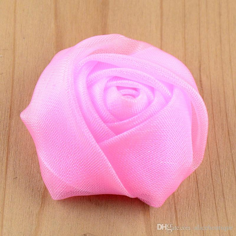 ribbon satin rosettes top quality Clothing Accessories Classic 3D Rose Bud Headdress Flower Corsage H0181