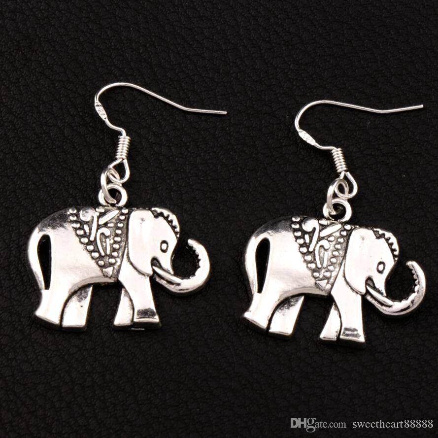 earrings silver rose more infused views elephant gold