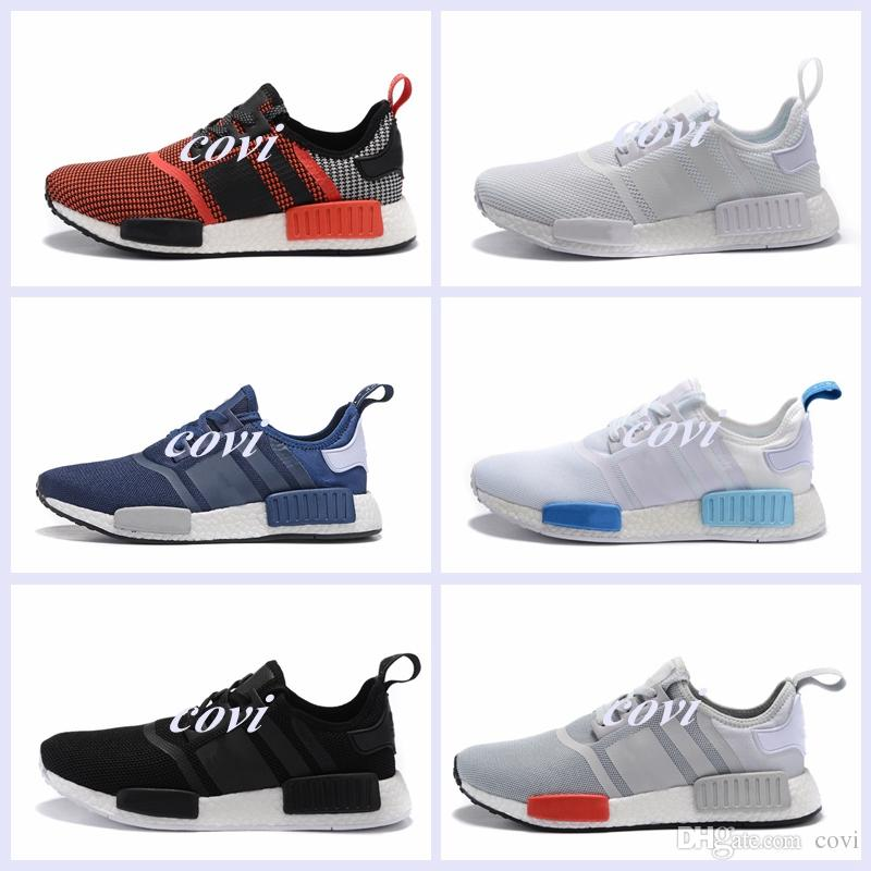 High Quality NMD Runner R1 Mesh Triple White Cream Salmon City Pack Women Men Running Shoes Sneakers 100% Originals NMD Casual Sports Shoes buy cheap choice shop cheap price sneakernews cheap online Lfn91mX