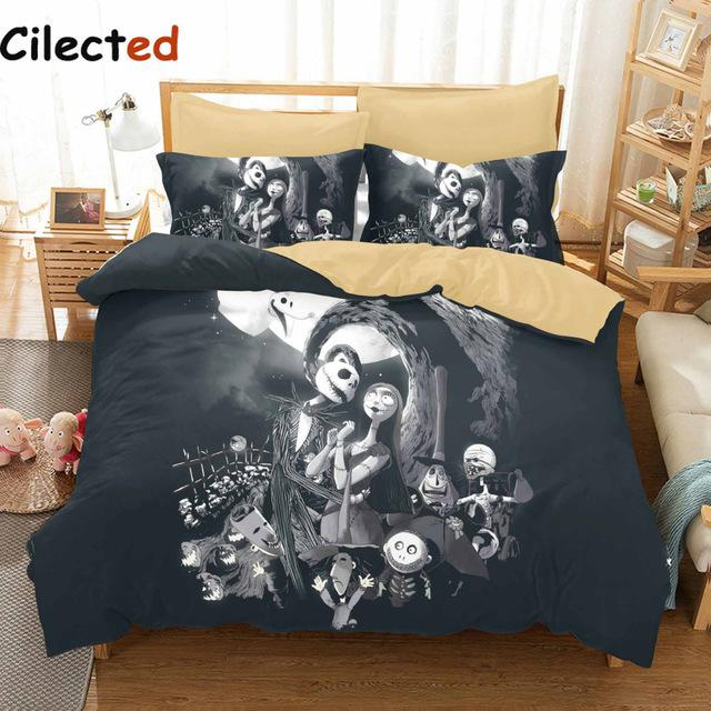Cilected 3d Nightmare Before Christmas Bedding Set Sanding Bedding ...