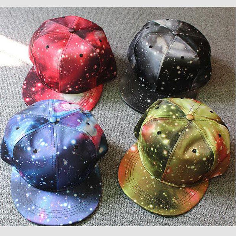 4d931159925436 New Fashion Galaxy Baseball Cap For Women&Men,Space Pattern Print Snapback  Unisex Hip Hop Peak Hats Baseball Cap Casquette Free Ship Hat Embroidery Cap  Rack ...