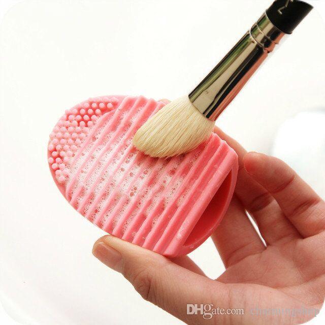 Nouveauté Gant de nettoyage pour les œufs MakeUp Brosse à laver Conseil de récurage cosmétique Brushegg Brosse cosmétique Brosse à oeufs Nettoyez l'outil!
