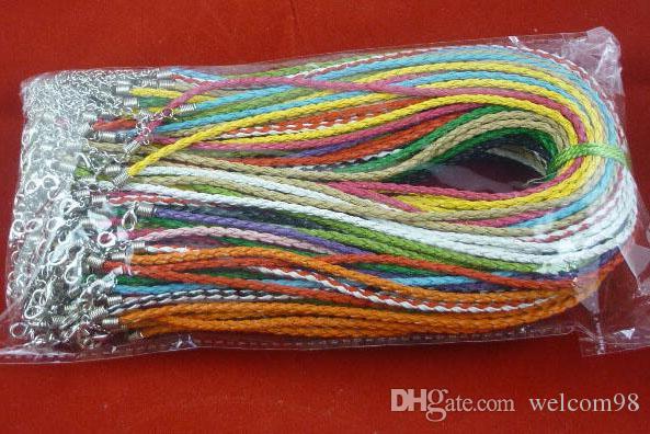/ Mix couleurs collier en caoutchouc cordon avec fermoirs de homard pour bricolage mode bijoux cadeau livraison gratuite W10