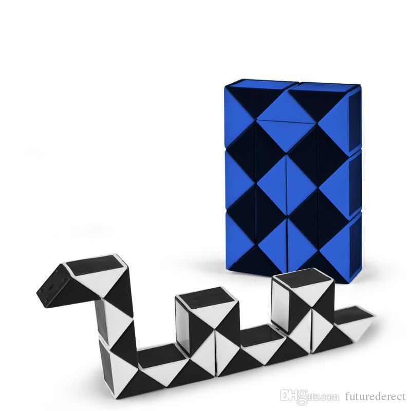 Magic Cube Puzzle Puzzle di plastica Twist Jigsaw Puzzle Magic Ruler 3D Snake Giocattoli Educazione bambini Intelligenza Agitarsi Giocattoli