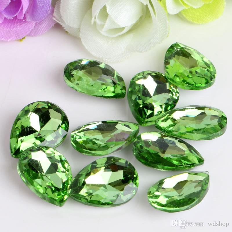 Wholesale 20*30mm Crystal Drop DIY Rhinestone Beads Glass Gems Crystal Stones Sew On Jewelry Clothes Crafts