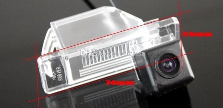 Caméra arrière pour Nissan Dualis J10 2007 ~ 2013 Caméra de stationnement arrière / CCD HD RCA NTST PAL / OEM de plaque d'immatriculation