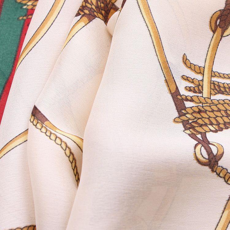 2017 New 90x180cm beach blanket chain style printing pattern summer travel beach towel silk-like throw blanket