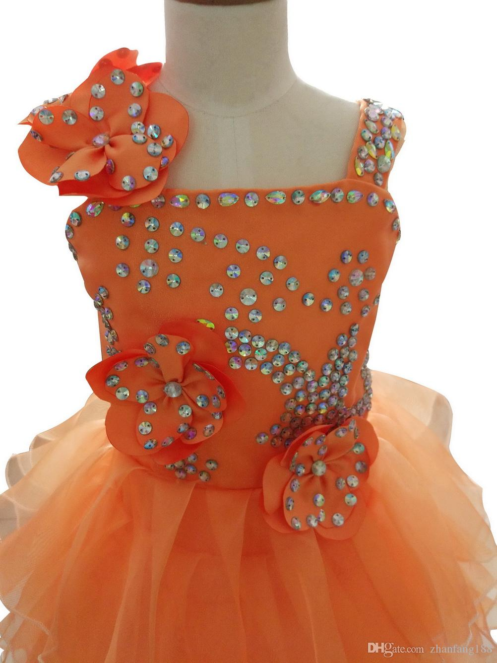 2019 New Flower Girl Dress Children/Kids Girl's Pageant Evening/Prom/Communion Dress/Gown for Birthday Wedding Bridal Gift Party