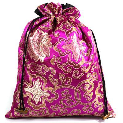 luxury extra large silk brocade drawstring bag gift packaging travel