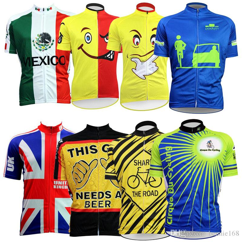 Carboon Cycling Jersey Top Short Sleeves 2017 MTB Ropa Ciclismo ... 5d4208186