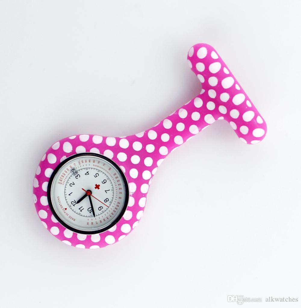 Dots Silicone Nurse Watch Calendar Fob pocket medical gift for nurse doctor hospital watches accept OEM service ALK VISON