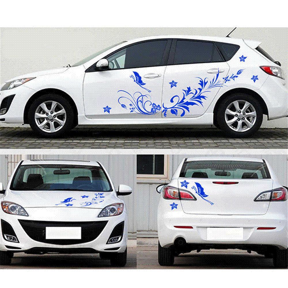 Compre Impermeable Auto Modifield Decal Vinilo Pegatinas Flor ...