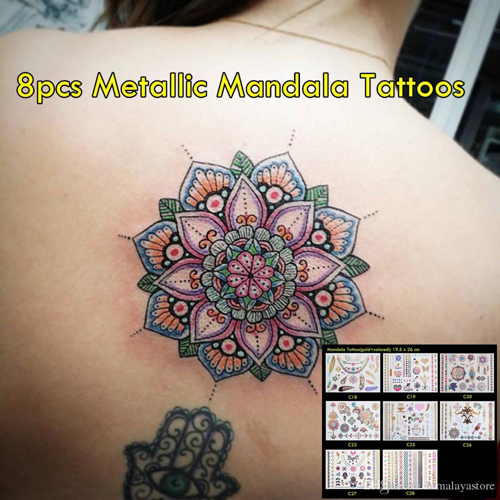 4 Unids Lote Oro De Alta Calidad Y Tatuajes De Color No Tóxico