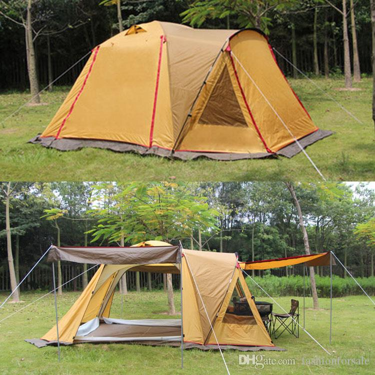 Outdoor C& Tent 5-6-8-10 Persons Family C&ing Hiking Party Large Tents Double Layer Waterproof Tunnel Tent Event Tents Beach Tent DHL C& Tent 10 ... & Outdoor Camp Tent 5-6-8-10 Persons Family Camping Hiking Party ...