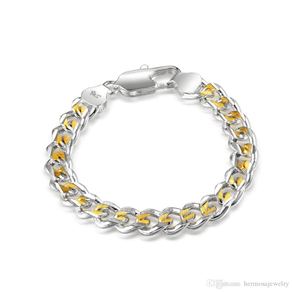 Men Women Jewelry Bracelet Rare Handmade Silver Yellow Gold Brass Stainless Steel Gorgeous Links Chain Charming Gift