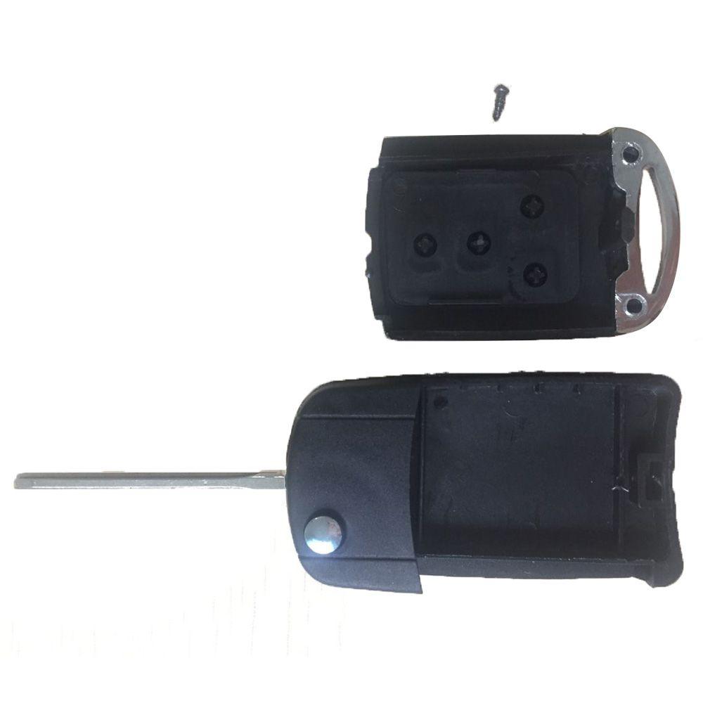 Guaranteed 100% 2 Buttons Uncut Flip Remote Key Shell Case Fob for Toyota RAV4 Corolla Avalon