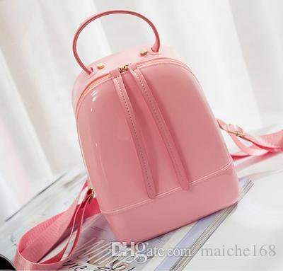 Woman jelly bag mini backpack adult child candy color beach waterproof