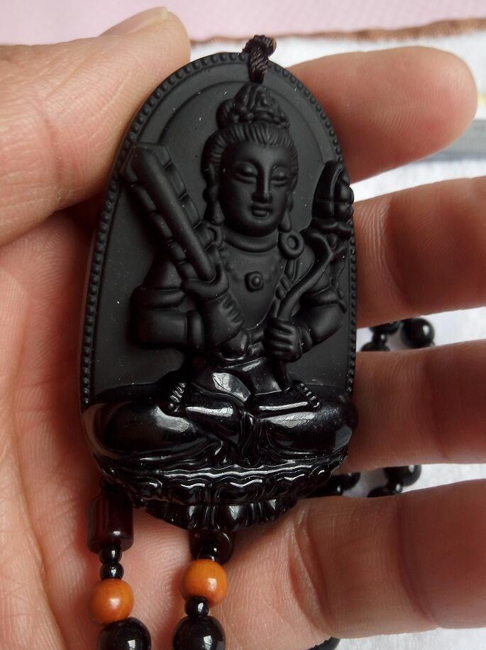 Jade negro natural Buda pendiente jadeíta grado pareja fabricantes de jade que venden hombres y mujeres