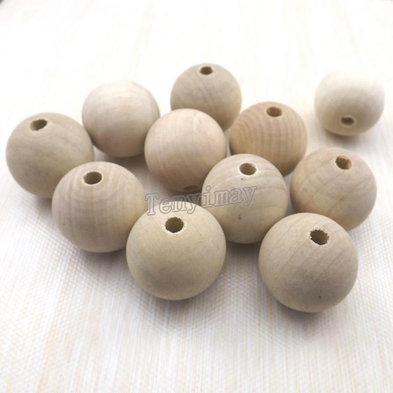 30mm perline in legno rotondo colore originale dipingere fai da te moda in legno reperti 100 pz / lotto Shippng libero