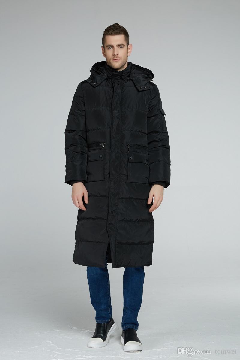 Mens Long Down Veste Manteau De Neige Blanc Canard Duvet De Parkas Hoodies Chaud Vêtements D'hiver Épais Outwear Coupe-Vent Grand Taille Bon 2017