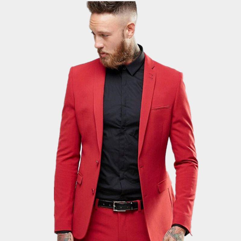 63be129c0f Tailor Made men si adatta ai nuovi uomini rossi Smoking da sposa Prom  Smoking per la moda maschile bellissime occasioni di occasioni formali  (giacca ...