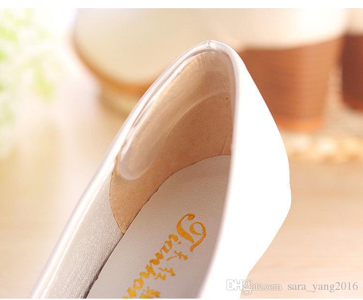 Auto-adesivo Sapato palmilhas Heel Colar Gel de Silicone Anti-Slip Pad Palmilha Protetor de Calcanhar Cuidados Com Os Pés Protetor wa3825