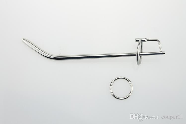 Bouchons de pénis en acier inoxydable creux 193 * 8mm Dilatateurs urétraux Bouchon urétral Son urétral Prince Wand Sex toys pour homme