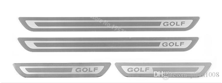 폭스 바겐 골프를위한 자동차 액세서리 6 골프 7 GTI R MK6 2012 2013 2014 2015 도어 씰 스카프 가드 씰 플레이트 스티커