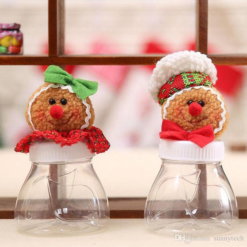 Christmas Candy Box Jar Sugar Bowl Gingerbread Man And Women Gift Ornaments Xmas Decorations for Kids ZA4628