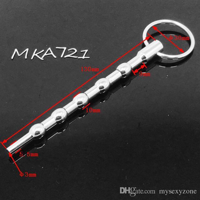 Tubo di Acciaio inossidabile Tubo Pene Plug Pleasure Stick Uretrale Plug Pene giocattoli del sesso BDSM CBT Fetish Maschio giocattoli di castità sesso MKA721