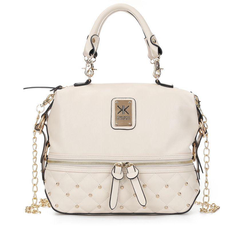Lady Kim kardaschian kollection kk shoulder bag handbags women rivet fashion bucket gold chawomen chains single shoulder bag