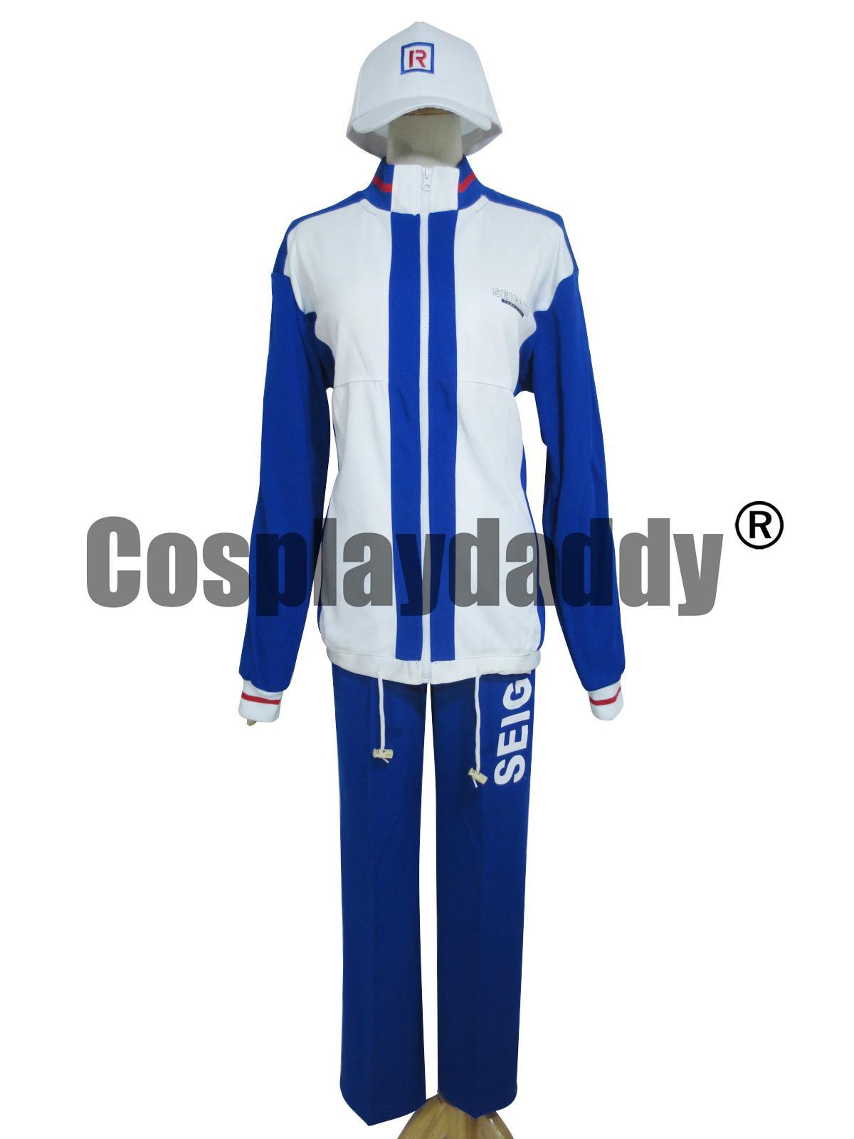 테니스의 왕자 Echizen 료마 학교 유니폼 Seigaku 스포츠 코스프레 의상